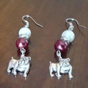 Mississippi State Bulldogs Earrings
